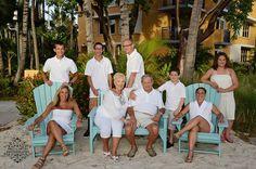 Stewart Family enjoying the Radisson Aruba Resort benches for this family shot