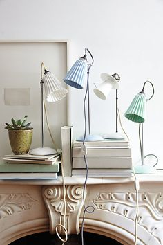 pleat table lamps