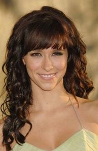 perfect combo foror straight bangs with curly hair