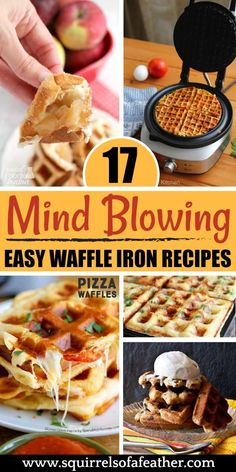 I had NO IDEA you could make such awesome food in my waffle iron! Such great ideas for breakfast, snacks, and even dessert. I had NO IDEA you could make such awesome food in my waffle iron! Such great ideas for breakfast, snacks, and even dessert. Mini Waffle Recipe, Waffle Maker Recipes, Poffertjes, Waffle Sandwich, Waffle Waffle, Waffle Machine, Breakfast Snacks, Breakfast Recipes, Breakfast Ideas