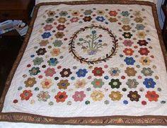 Aunt Sarah hexagon quilt.