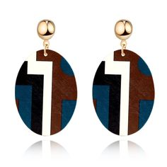 Wooden Drop Earrings //Price: $2.99 & FREE Shipping //     #woodworking