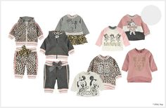 Minnie & Mickey Mouse Baby Girl Outfits  Leopard Print Sweaters & Pants  Monnalisa