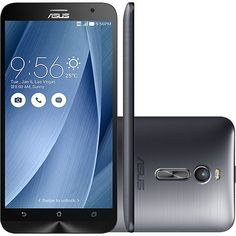 (Shoptime) Smartphone Asus Zenfone 2 Dual Chip Desbloqueado Android 5.0 Lollipop Tela 5.5 ´ 32GB 4G Wi - Fi Câmera 13MP - Prata - de R$…