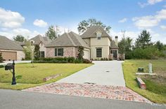 New custom home near New Orleans, Louisiana, in gated master planned community.