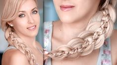 Intricate and unique 5 strand braid tutorial for long hair, with hair extensions.