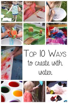 Celebrate Summer - Top 10 Ways to Get Creative with Water - Rainy Day Mum