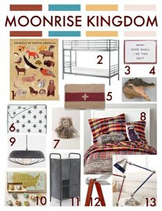 Pint Sized Design Wes Anderson S Moonrise Kingdom Inspired Bedroom Shared Rooms