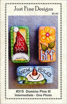 Domino Pins III Pattern Packet by Sandy LeFlore - Tole Painting Book from ArtistsClub.com