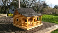 My first log cabin birdhouse