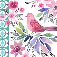 Little Bird Illustration Watercolour 27 Ideas For 2019 Watercolor Bird, Watercolor Paintings, Watercolor Portraits, Watercolor Landscape, Abstract Paintings, Bird Quilt, Bird Illustration, Bird Drawings, Bird Pictures