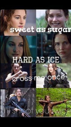 Tris (Divergent) and Katniss (The hunger games) Hunger Games Memes, Divergent Hunger Games, Divergent Fandom, Hunger Games Fandom, Divergent Series, Hunger Games Trilogy, The Hunger Games, Movie Quotes, Book Quotes