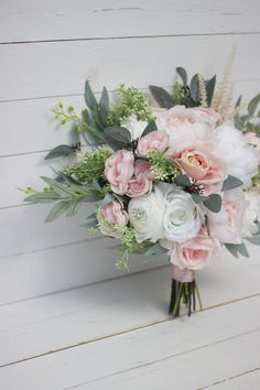 Prom Bouquet, Bridesmaid Hair Flowers, Boho Wedding Bouquet, Bridal Bouquet Pink, Blush Bouquet, Bridal Flowers, Floral Wedding, Prom Flowers, Wedding Dresses