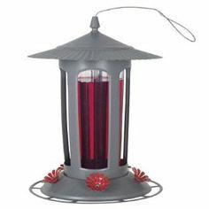 Lighted Hummingbird Feeders   Birdscapes® 223 Lightpost Top Fill Hummingbird Feeder, 24 oz capacity