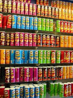 pringles Picture from pringles. Image Deco, Junk Food Snacks, Homemade Pickles, Pickles Recipe, Loaded Baked Potatoes, Food Wallpaper, Food Goals, Candy Store, Aesthetic Food