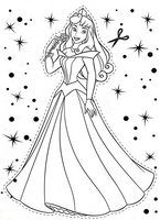 kolorowanki Śpiąca królewna Aurora, obrazek Disney dla dzieci do wydrukowania i  do pokolorowania kredkami numer  41