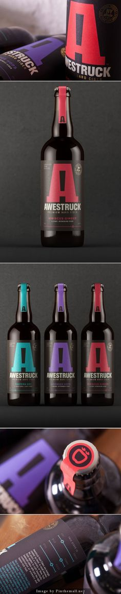 Awestruck Hard #Cider, Creative Agency: Buddy - http://www.packagingoftheworld.com/2014/10/awestruck-hard-cider.html