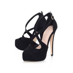 kimchee, black shoe by carvela kurt geiger - wow! if these were half the height, maybe...
