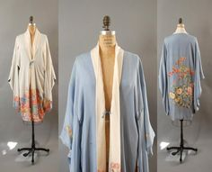 1930s Silk Robe / Reversible Floral Robe / 30s by TheSlipperie, $315.00