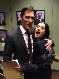 Photo of Thomas and Paget // Epi 200 for fans of Criminal Minds.......I love this pic....
