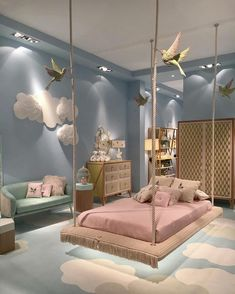Cute Bedroom Design Ideas For Kids And Playful Spirits teenager zimmer mädchen schmetterlinge wand deko