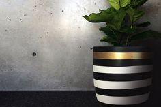 Image of Stripes Gold Pot by Design Twins (medium)