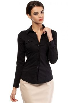 Black shirt, women's fashion matched
