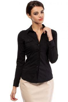 Black shirt, women's fashion matched