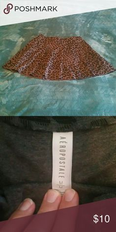 Cheetah skirt Excellent condition. Aeropostale Skirts Mini