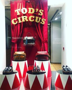"""TOD'S, London, UK, """"The circus arrives without warning, no announcements precede it. It is simply there, when yesterday it was not"""",  photo by Window Shoppings, pinned by Ton van der Veer"""