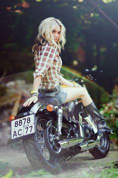 Harley Davidson 48 Motorcycle Girl 062 ~ Return of the Cafe Racers
