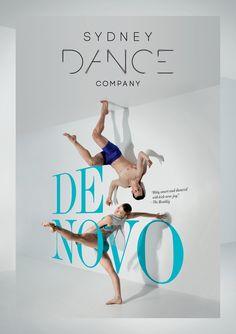 Increíble póster para la campaña de lanzamiento De Novo, Compañía de Danza de Sydney. Diseño:  De Novo - Graphis #diseño #design