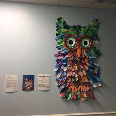Staten) school art projects, owl craft projects, collaborative art p Collaborative Art Projects For Kids, Class Art Projects, Group Projects, Craft Projects, Sfs Instagram, Ecole Art, Middle School Art, High School, Kindergarten Art