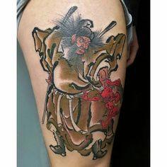 Shoki Caligraphy, Samurai, Skull, Tattoos, Instagram Posts, Pink, Color, Japanese Prints, Impressionism