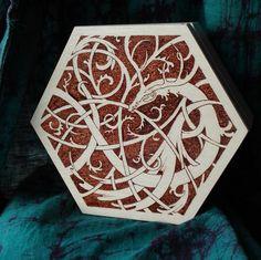 https://www.etsy.com/shop/LeafOfYggdrasil #etsy #viking #knotwork #jormungand #snake #pagan #folk #woodburning #pyrography #norseart #norse
