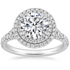 <3 Platinum Gala Diamond Ring from Brilliant Earth. Top 5 choice with 7.5mm round stone