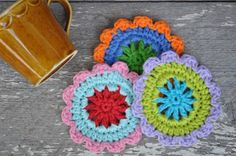 crochet coaster tutorial flowers4