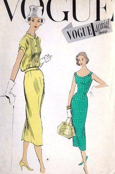1950s Misses One Piece Dress and Jacket Vintage by MissBettysAttic