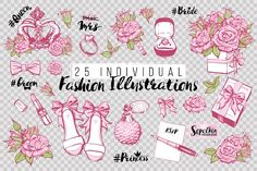 25 Romantic Fashion Illustrations by Sopelkin on @creativemarket