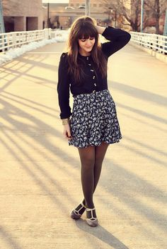 1000+ images about How to combine skirts, tights and boots ...