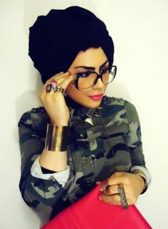 Hijab With Glasses-17 Ideas to