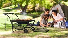 Garden Fire Pit Outdoor BBQ Party Patio Firepit Barbecue Heaters Stove Wheels
