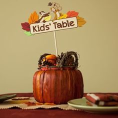 Thanksgiving Kids' Table Sign