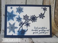 Stampin' Up!, Ingridcardsandmore, Kerstkaart, Christmascard, SU, Night of Navy, Snowflake Showcase, Bundle, Watercolor, The snow is Glistening, Snowfall Thinlits Snowflake Cards, Snowflakes, Xmas Cards, Greeting Cards, Stampin Up Cards, Paper Crafting, Card Ideas, Catalog, Card Making