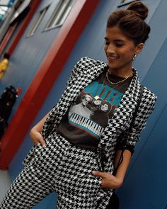 27 Houndstooth Pieces To Buy Now - Autumn Winter Fashion Trends Mode Outfits, Chic Outfits, Fashion Outfits, Womens Fashion, Fashion Trends, Fashion Tips, Looks Style, Looks Cool, Look Fashion