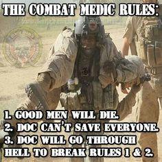 Regardless of branch, Combat Medics are Guardian Angels