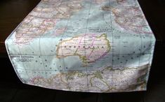 map fabric runner 6ft table runner world map table by chezlele
