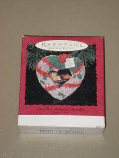1994 Hallmark Keepsake Ornament - Our First Christmas Together - Photo Holder - QX565-3 Hallmark Keepsake.