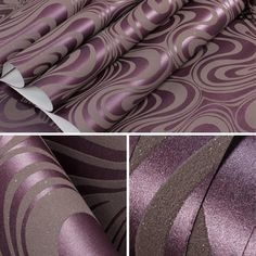 Abstract Curve Striped 3d Mural Wallpaper – Cheerhuzz Words Wallpaper, Wallpaper Roll, Striped Wallpaper, Purple Wallpaper, 3d Wallpaper For Bedroom, Modern Hall, Stair Decor, Types Of Lighting, Loft Style