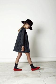 Fedora and all black, I'm sold. #estella #designer #kids